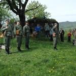 Nástup družstva pred ukážkou techniky a výzbroje