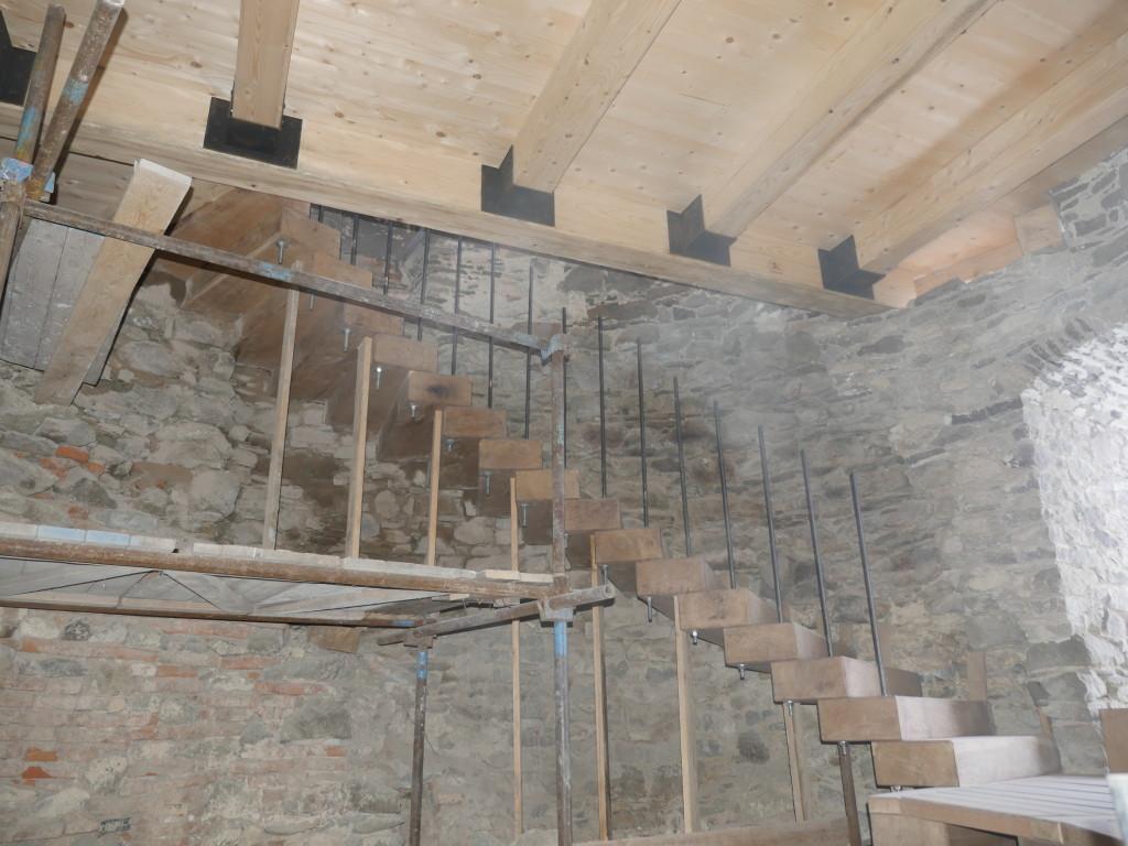 Schodisko vo veži - 4. a 5. nadzemné podlažie