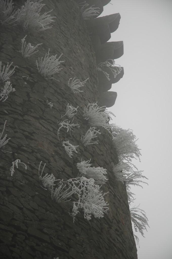 Plášť veže v zime