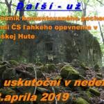 Vojenské bunkre – 4. ročník komentovaného pochodu po línii ČS opevnenia v Slanskej Hute