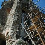 portál 3. nadzemného podlažia – vonkajší bočný pohľad na vežu