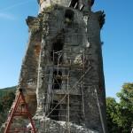 portál 3. nadzemného podlažia – vonkajší čelný pohľad na vežu